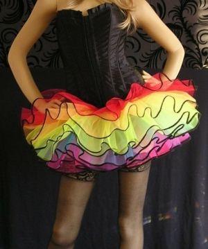 Neon UV Whit tutu skirt Punk Gothic Emo rock Fashion Fairy party Halloween