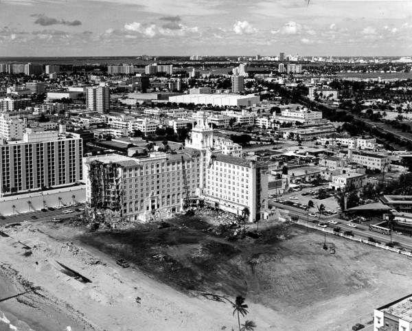Florida Memory Roney Plaza Seen During Demolition Miami Beach