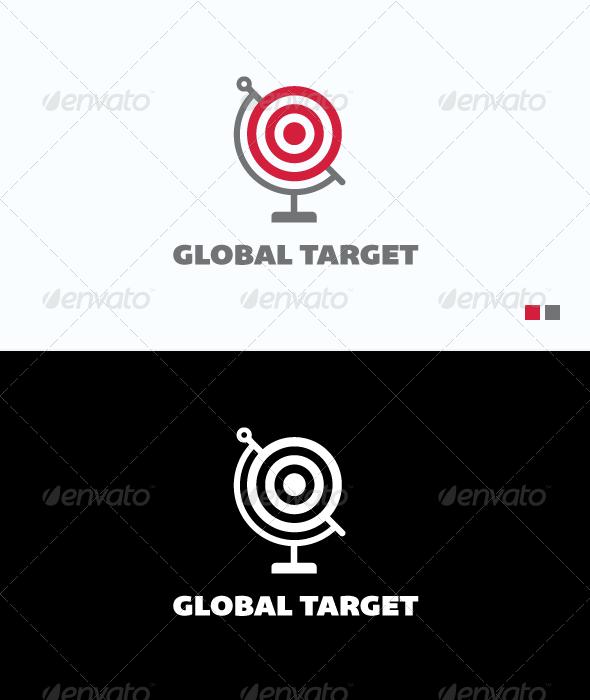 Global Target Logo Template Logo Templates Graphic Design Portfolio Print Logos