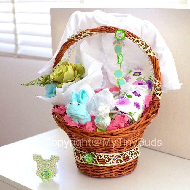 Instagram Photo By Mytinybuds My Tiny Buds هدايا مواليد Via Iconosquare Gift Baskets Baby Gift Basket Decorative Wicker Basket