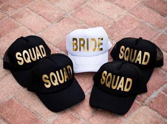 457c63cc27774 Squad Hats - Bride Tribe Hats - Bachelorette Party - Bridal Party - Bride  to Be