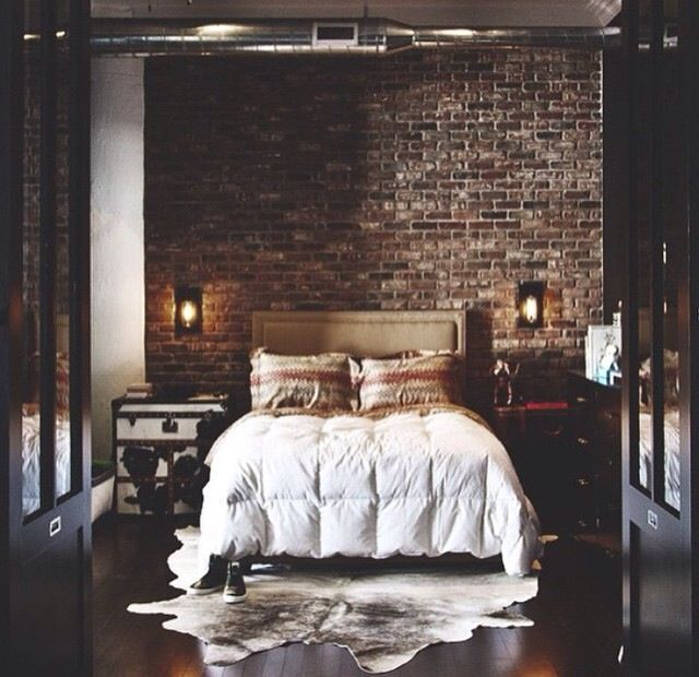 Exposed Brick Bedroom Design Sensual Bedroom Paint Colors Master Bedroom Accent Wall Bedroom Curtains Harry Corry: Pin By Λ L E X Λ N D E R R Λ I N On My New Apartment