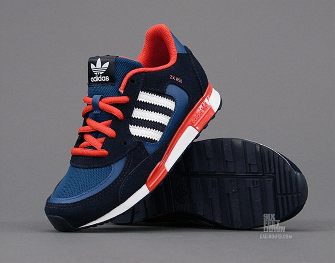 adidas Originals ZX 850 K   Blue   Sneakers   D67822   Caliroots