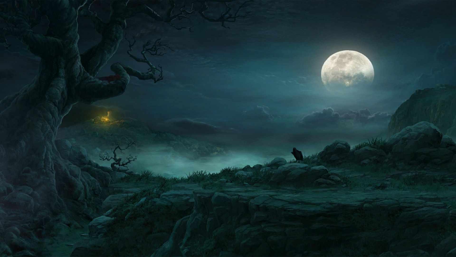 Imgur Moon Artwork Forest Moon Fantasy Landscape