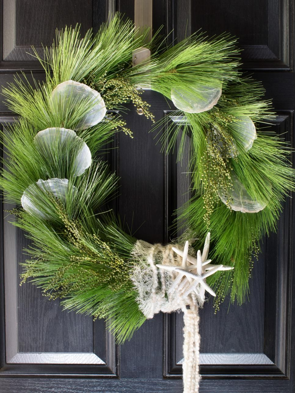 doors wreath etsy by pin nautical front coastal on seashell door cornucopia mussel wreaths