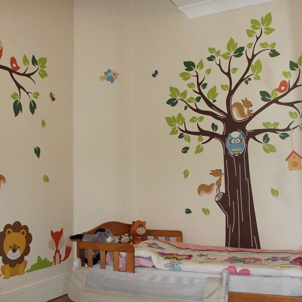 Stickerswall Jungle Tree And Animals Nursery Wall Stickers Amazon