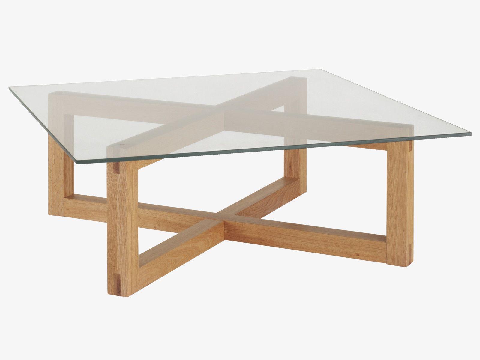 Dublin Natural Wood Oak Coffee Table Tables Habitatuk