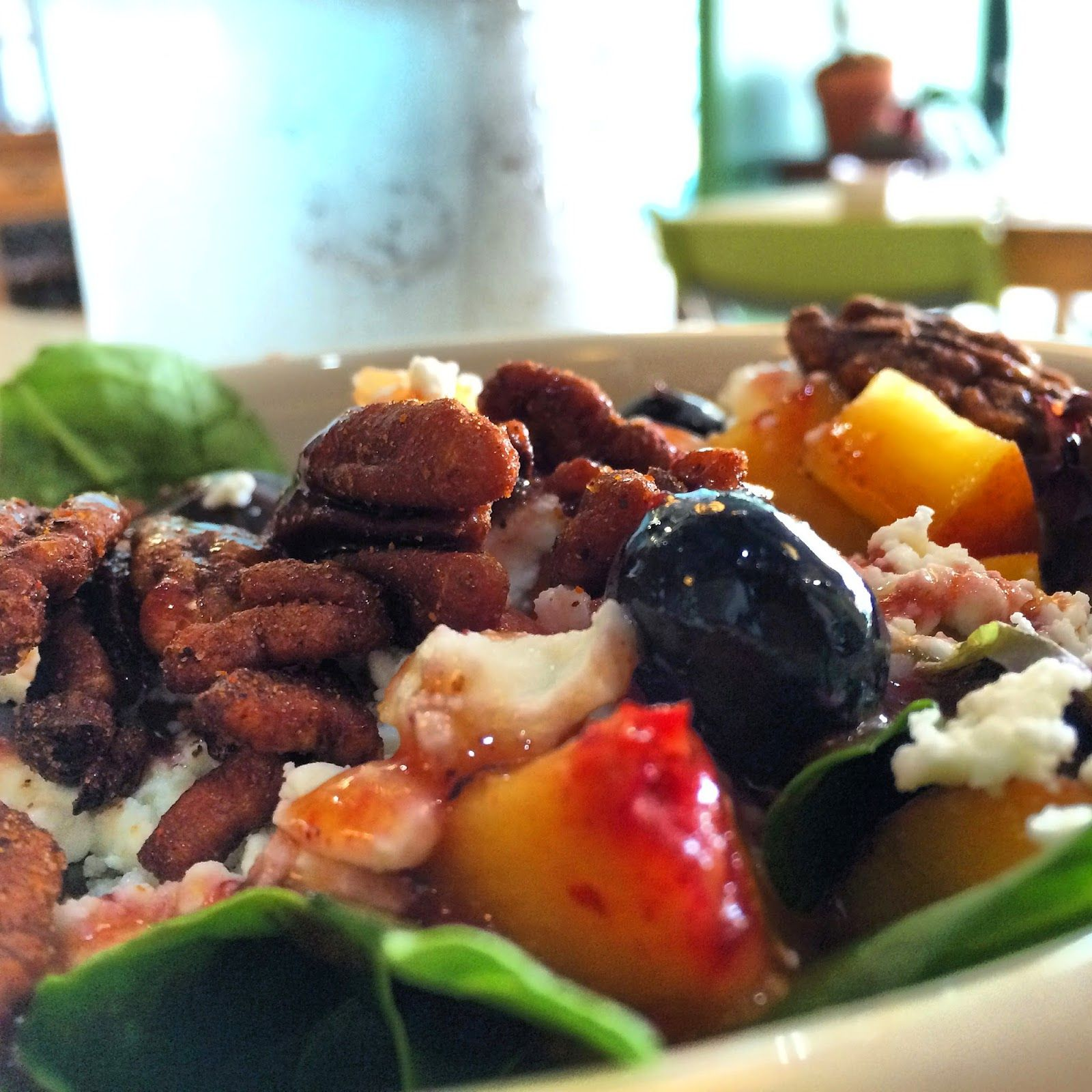 The peach and blueberry salad at MJ's Café 672 Jefferson Hwy, Baton Rouge, LA 70806