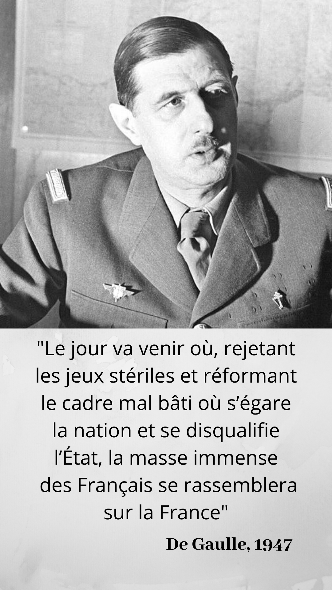 Le 20 Janvier 1946 Charles De Gaulle President Du Gouvernement Provisoire De La Republique Demissionne Citation De Gaulle Citation Politique Citations Sympa