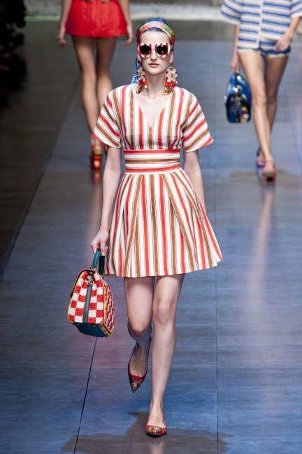 Spring 2013 Trend Report: Stripes (Dolce & Gabbana)