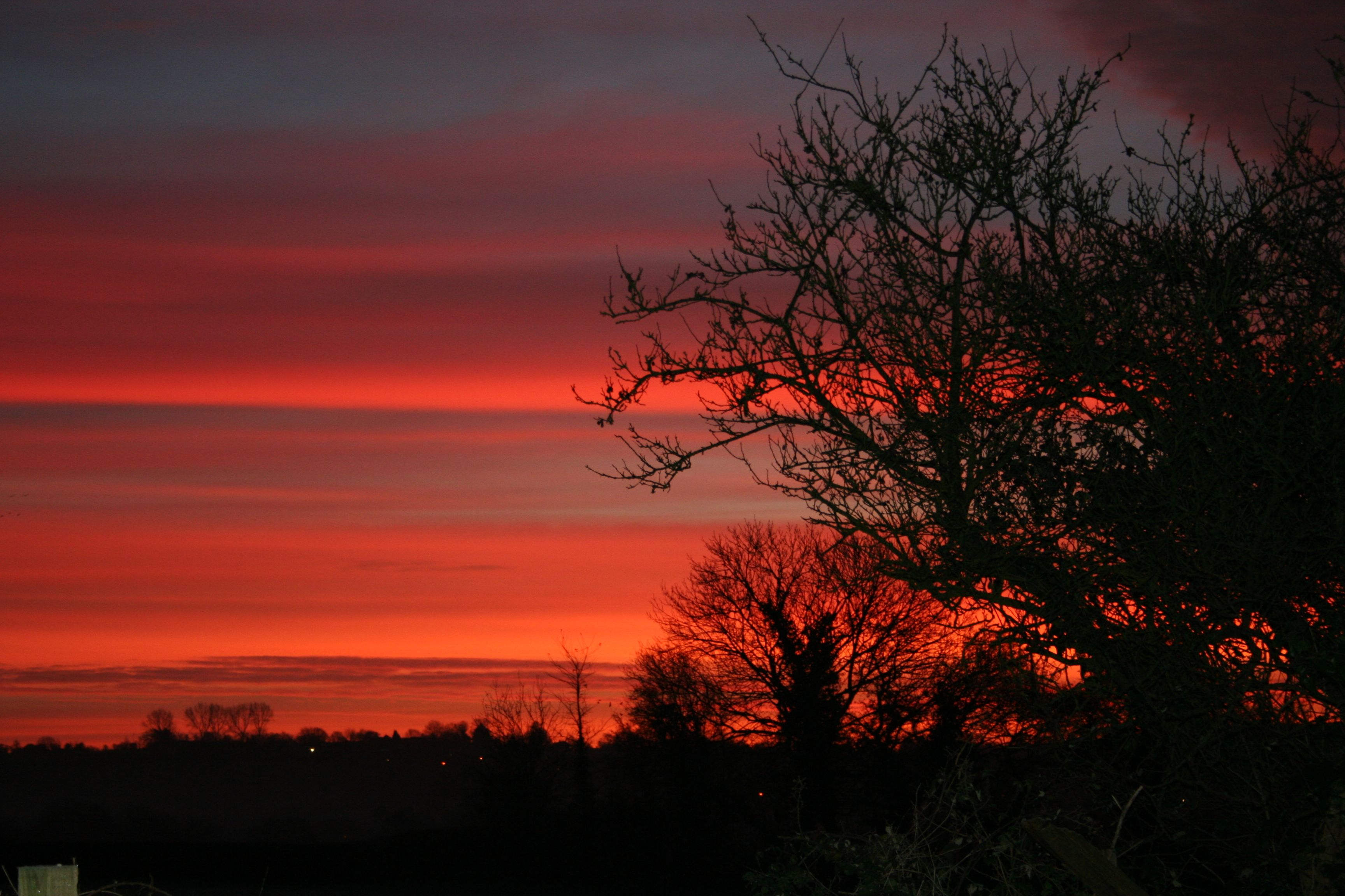 Sunrise in South Somerset December 2014