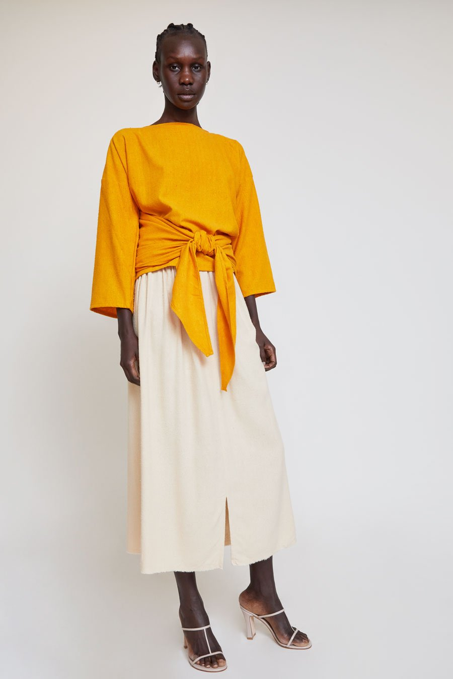 18a387dcc0 Miranda Bennett Paper Bag Skirt in Lucien Silk Noil in 2019 ...