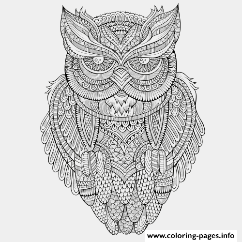 Animals Advanced Owl Coloring Pages Printable And Book To Print For Free Find More Online Kids Adults Of