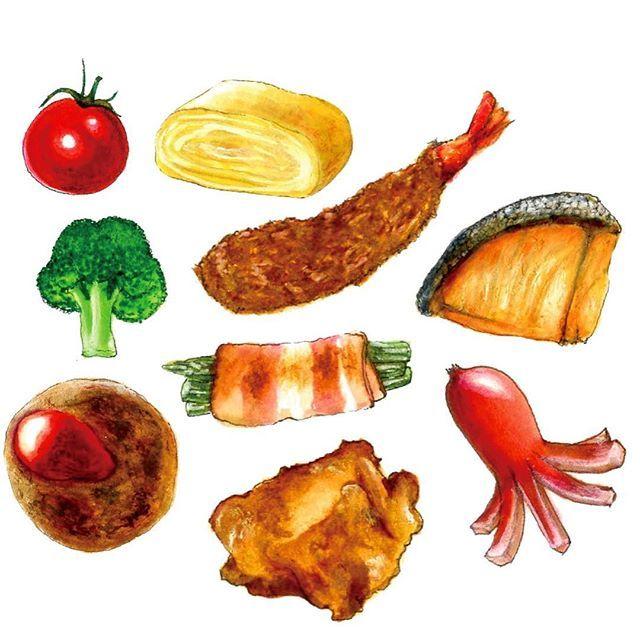 minneのフレークシール新作追加しました akashansan で検索いただければ出て来ます 今回はお弁当のおかずシリーズです midoritravelersnotebook travelersnotebook travelersnot 食べ物 イラスト 食品イラスト お弁当 絵