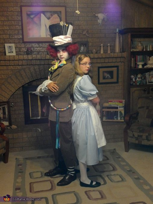 homemade costumes | mad hatter and alice. Mad Hatter - Homemade costumes for boys