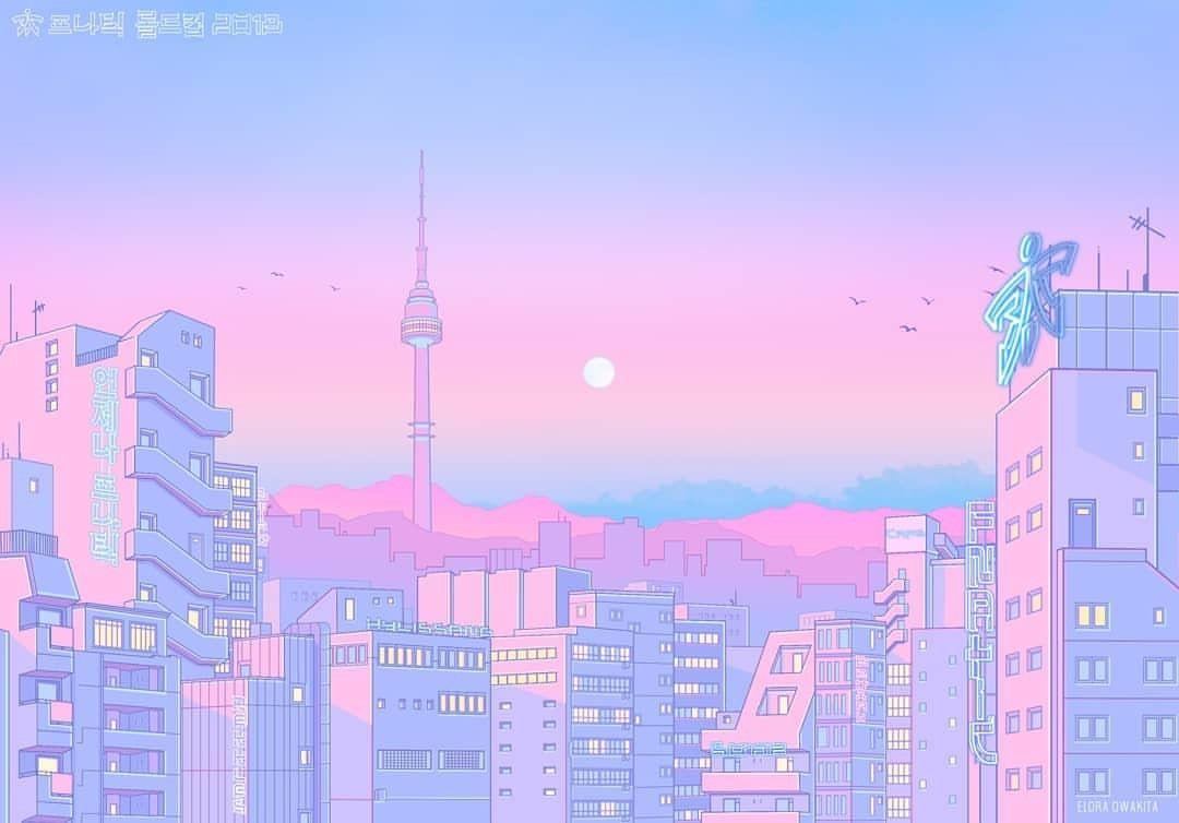 Pin By Lauriebear On Art Aesthetic Desktop Wallpaper Aesthetic Pastel Wallpaper Anime Scenery
