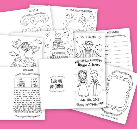Printable Kids Wedding Coloring Book Wedding Activity Book Etsy Wedding With Kids Diy Coloring Books Wedding Activities