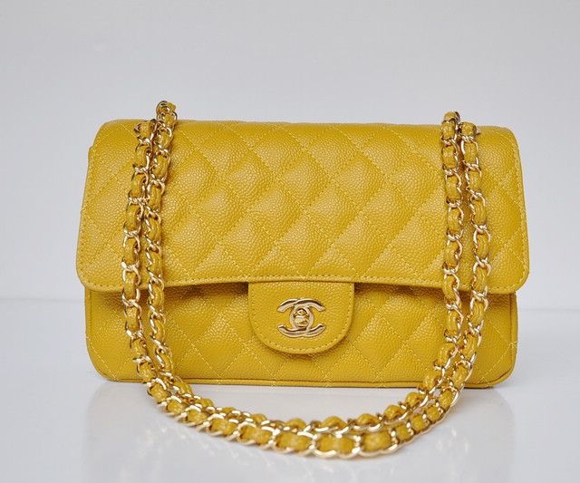 e62ef3392ade Chanel 2.55 Classic Flap Bag Caviar Leather Yellow (Medium) Yellow   A01112-YEL-GLD-BALL only US  169.00 at eBuyPurse.com   Louis Vuitton Pur.