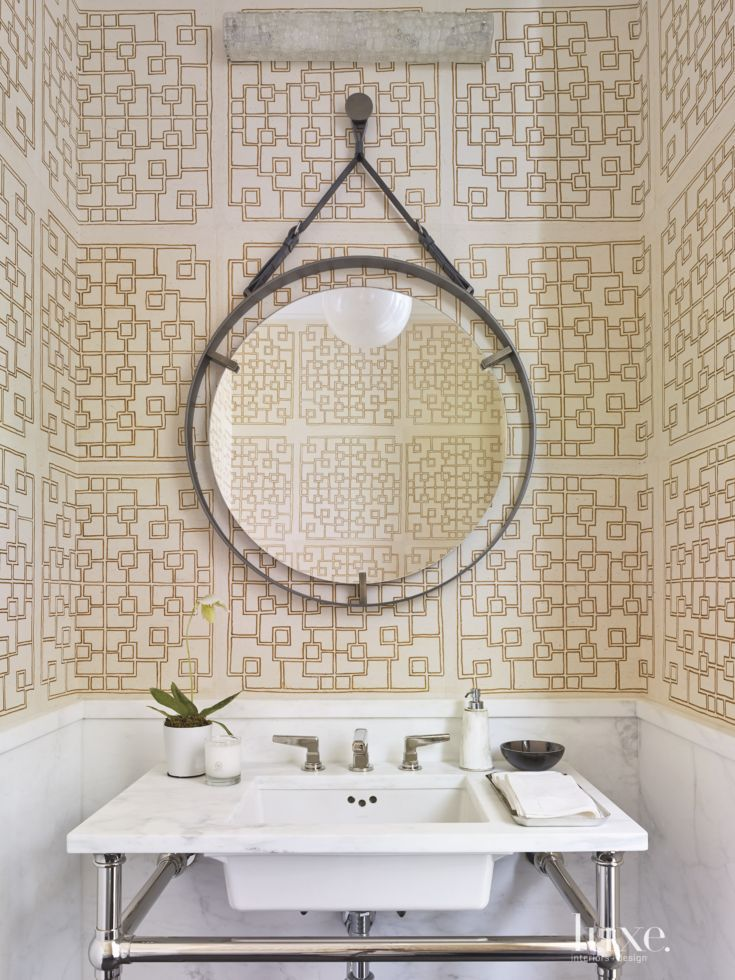 25 spaces with industrial influences and d cor handmade wallpaper bathroom styling bathroom - Cannon bullock wallpaper ...