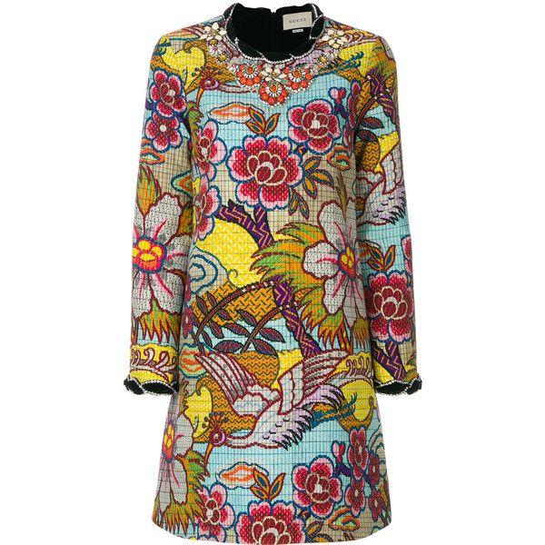 floral print dress - Multicolour Gucci cy3TORvpg5