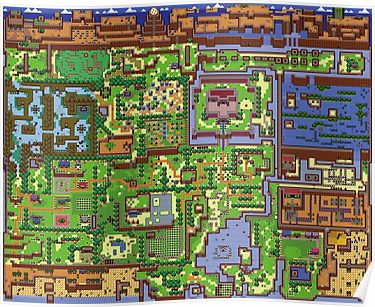 Koholint Island Map Poster By Legendarymarin Zelda Map
