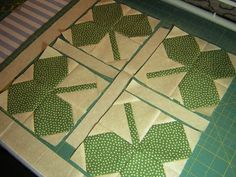 Shamrock quilt, use with four leaf clover quilt block | Quilting ... : shamrock quilt patterns - Adamdwight.com