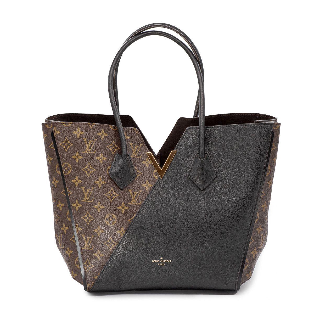 Sac Kimono Toile Monogram et cuir noir. | Louis vuitton bag ...