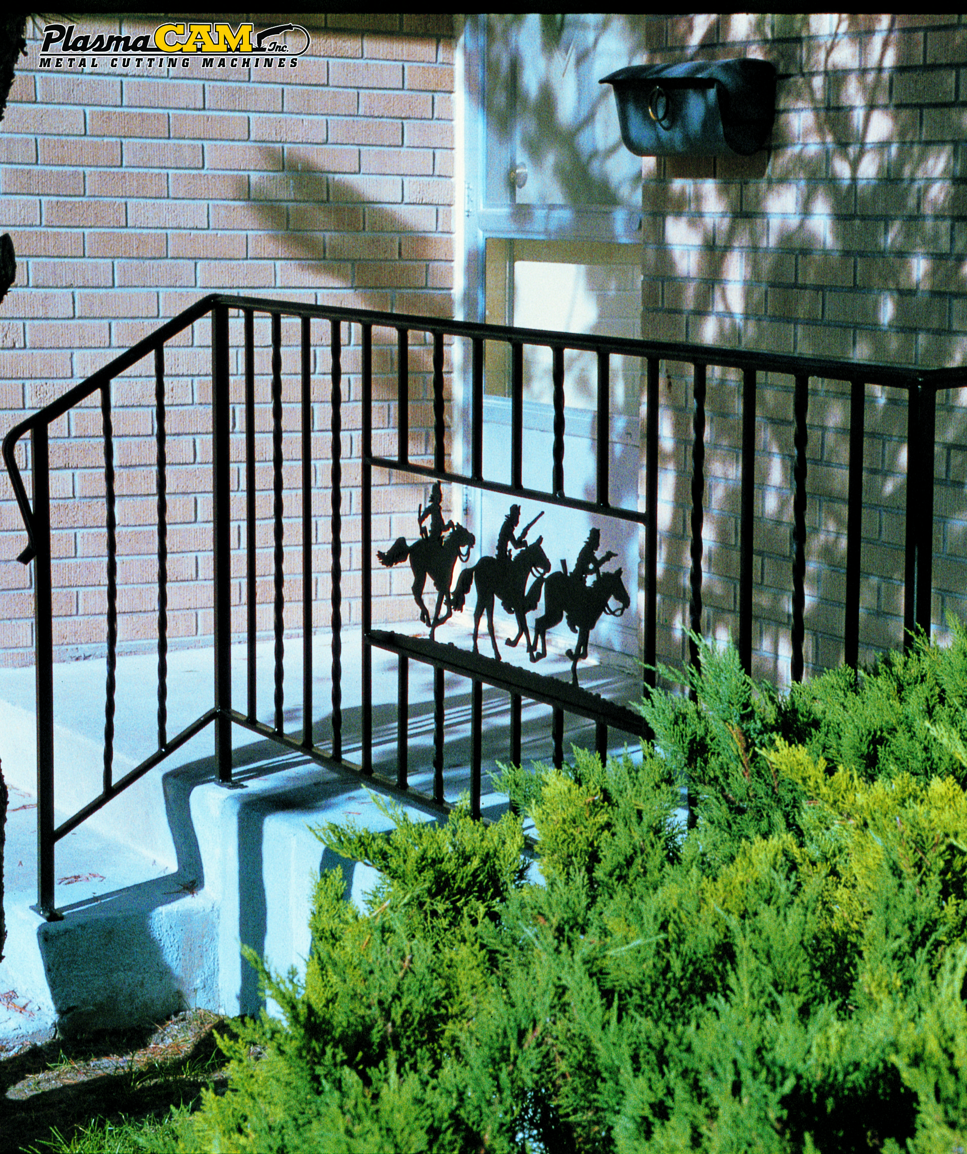 Zeneles kezzel 743 - Western Metal Art Custom Make Plasma Cut Railing Inserts With A Plasmacam