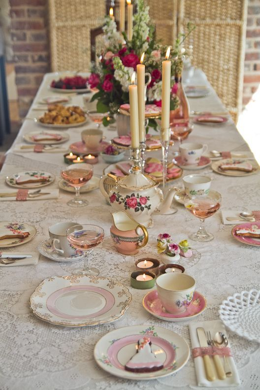 Vintage Tea Party Table Setting By Rosehip Sus