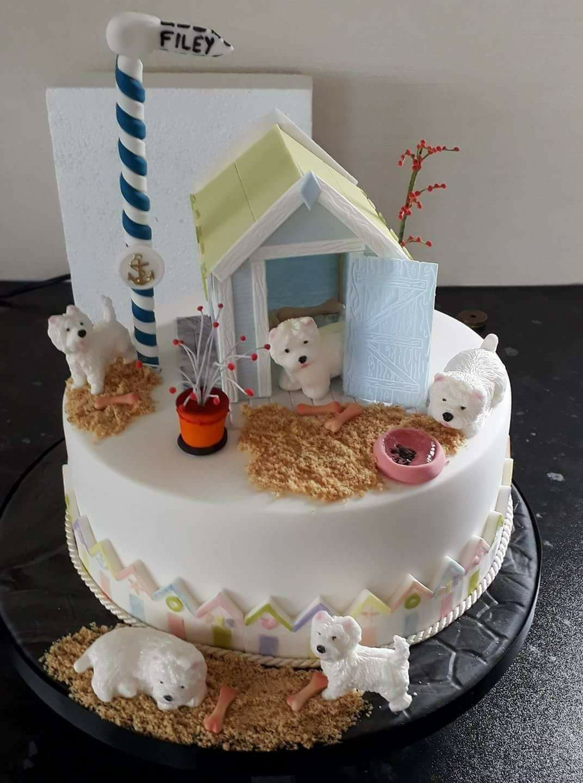 Westie birthday cake Why not Westie food style Pinterest