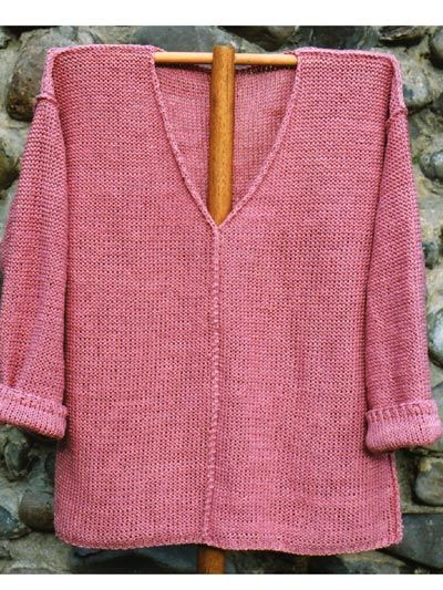 This Super Comfy And Super Easy Shirt Is Knit In Reverse