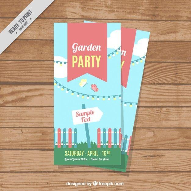Cheerful Garden Party Flyer Free Vector  Freepik