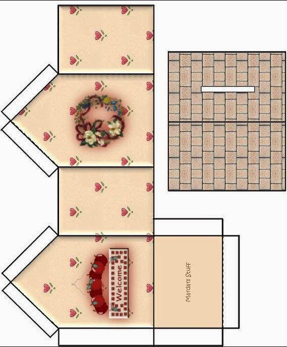 Caixas em formato de casinha para imprimir cally 39 s for Mobilia para sketchup 8