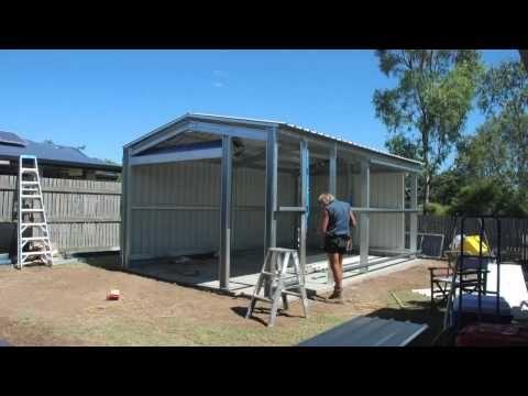 Fair Dinkum Sheds Construction Video - YouTube Abris de jardin - fenetre pour maison passive