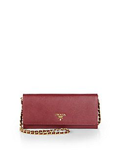 5052b849890d Prada - Saffiano Metal Oro Wallet With Chain