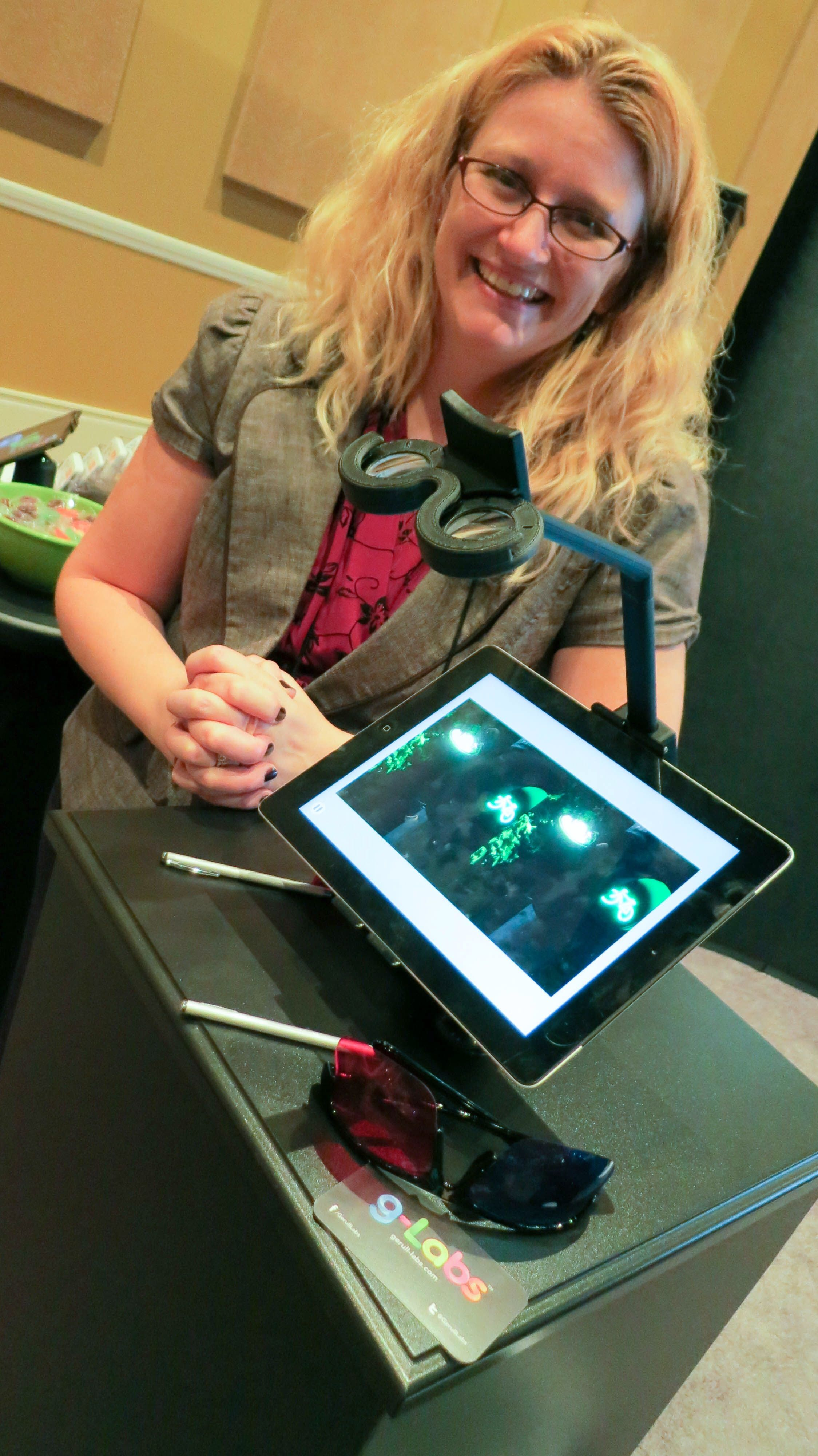 Dr Jen Simonson With The New G Labs Vision Therapy App