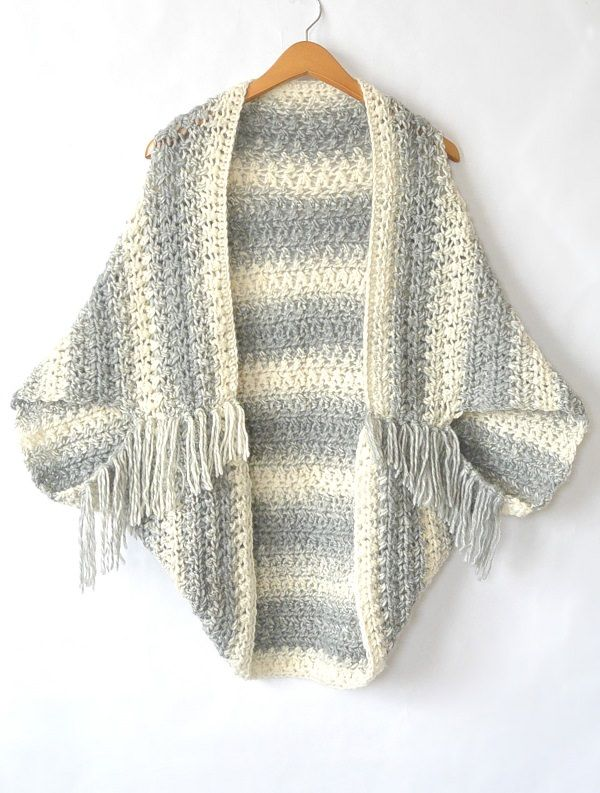 Light Frost Easy Blanket Sweater Crochet Pattern   stuff   Pinterest ...