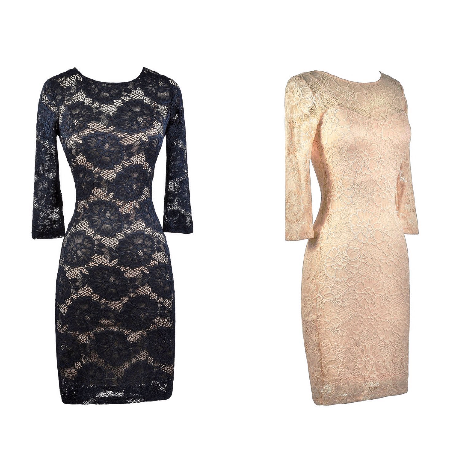 This lace dress has a cute fitted cut:  http://ss1.us/a/PfgqltV6  http://ss1.us/a/dr34Sjv5