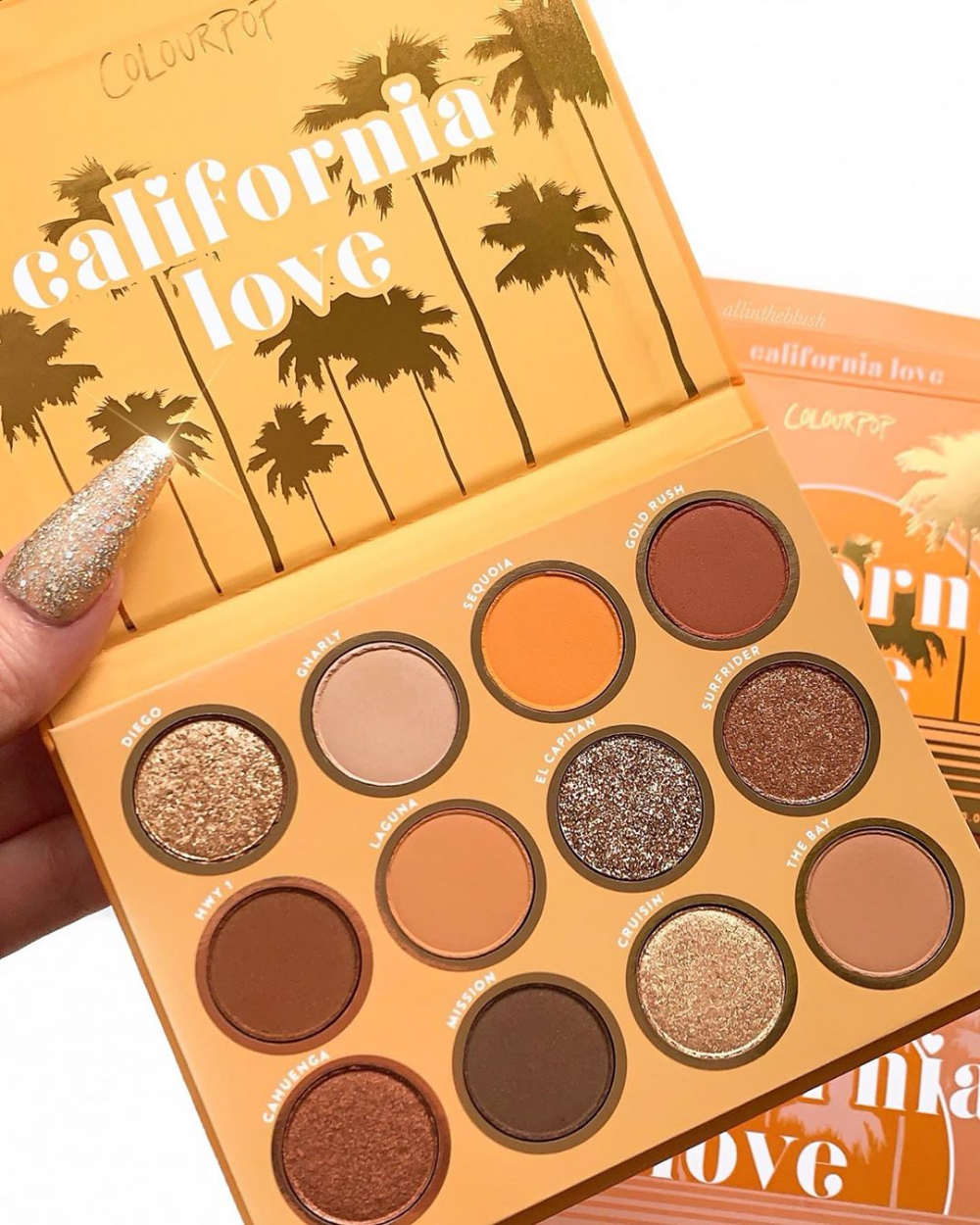 California Love Eyeshadow Palette : california, eyeshadow, palette, Colourpopcosmetics, Colourpop, California, Eyeshadow, Palette, @allintheblush, Beauty, Makeup,, Makeup, Pallets