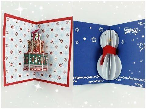 Tutorial Biglietti Di Natale.Tutorial Biglietti D Auguri Pop Up Natalizi Collab Arte