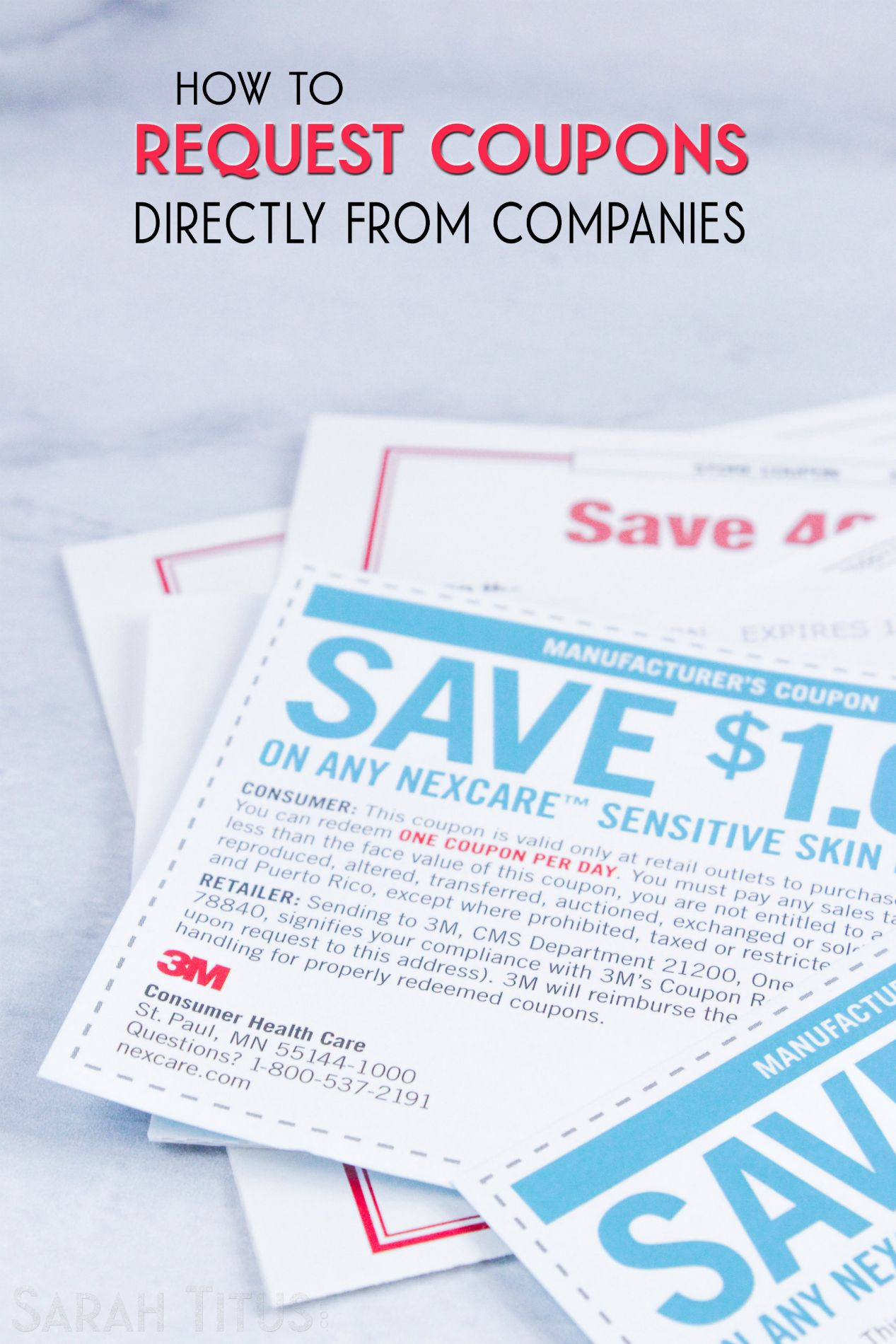Buy Manufacturer Coupons >> How To Request Coupons Directly From Companies Saving Money And
