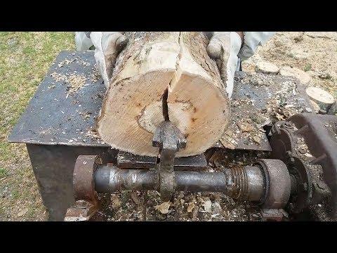 (90) Amazing Homemade Log Splitter Wood Processing