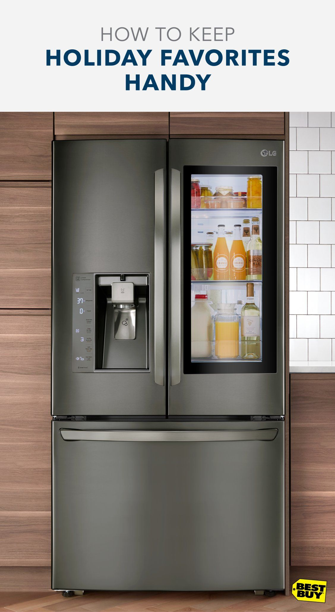 This lg doorindoor refrigerator provides easy access to the items