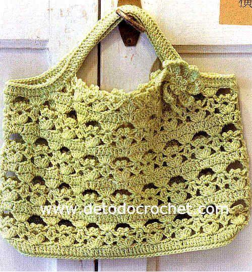 Todo crochet Pinterest Verde, Bolsos y Tejido
