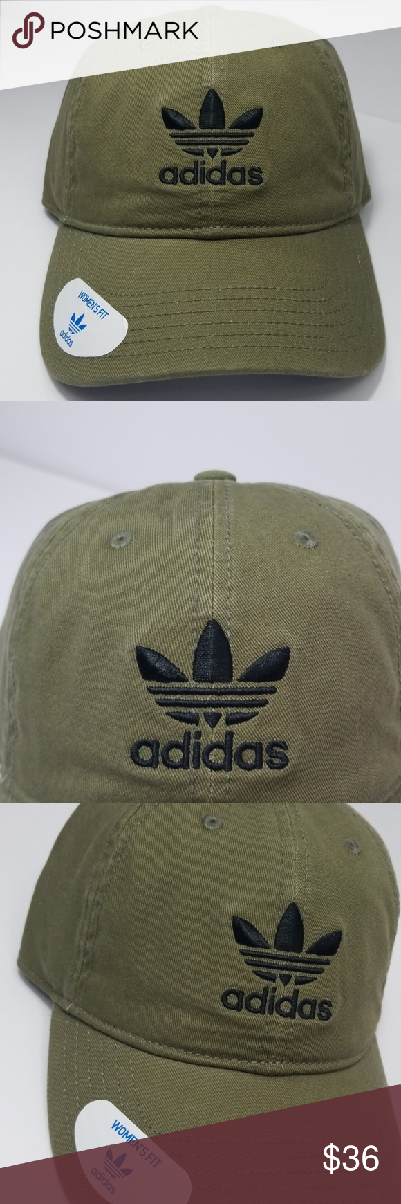 af7e4d6d7c5ad Adidas Originals Womens Fit Hat Adjustable Fit Color Army Green Women s Fit  New with tags B18 adidas Accessories Hats