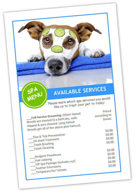 Dog Grooming Price List Templates Bundle 10 Pet Grooming Business Pet Grooming Dog Grooming