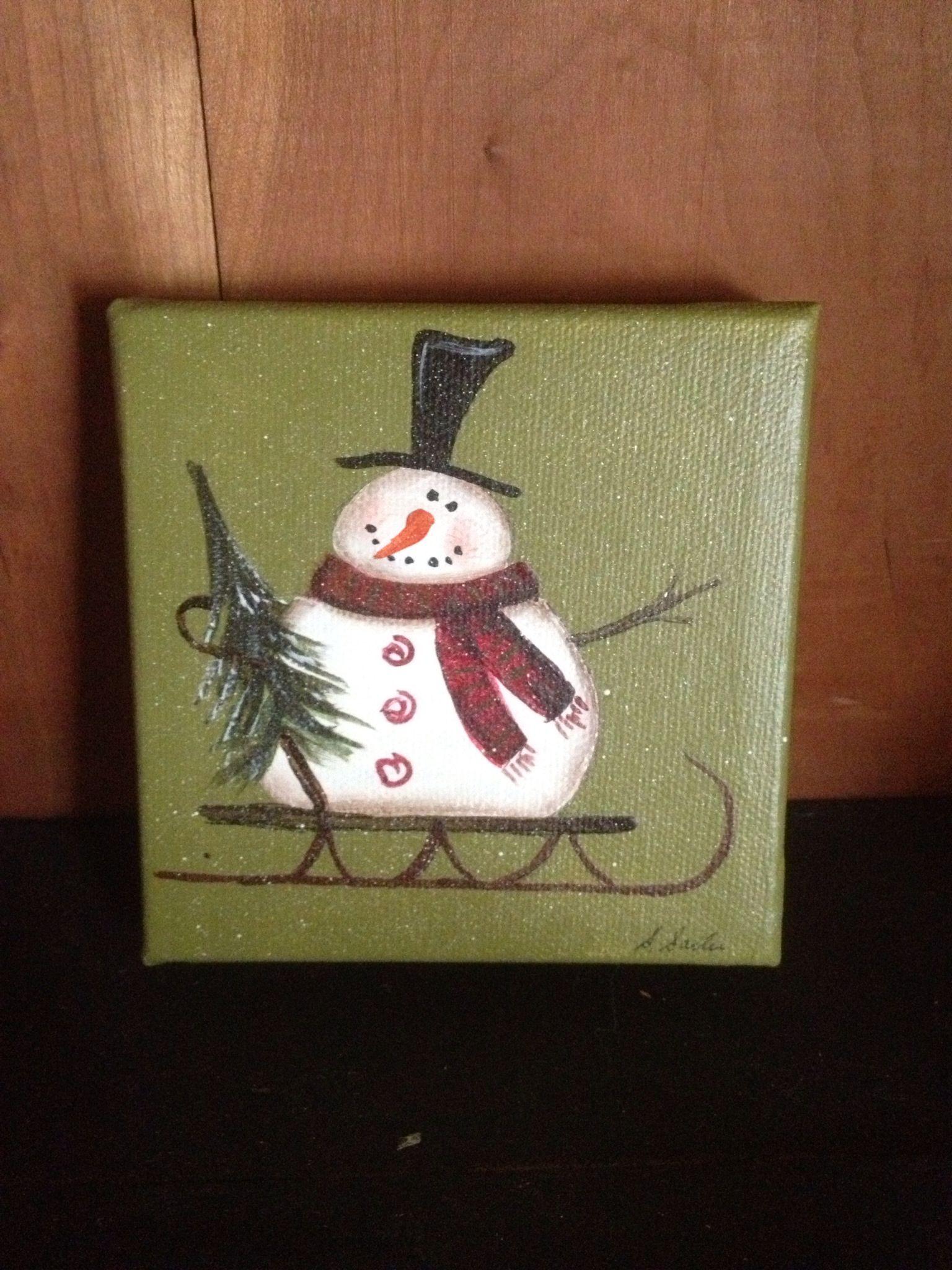 4x4 Canvas Christmas Paintings On Canvas Christmas