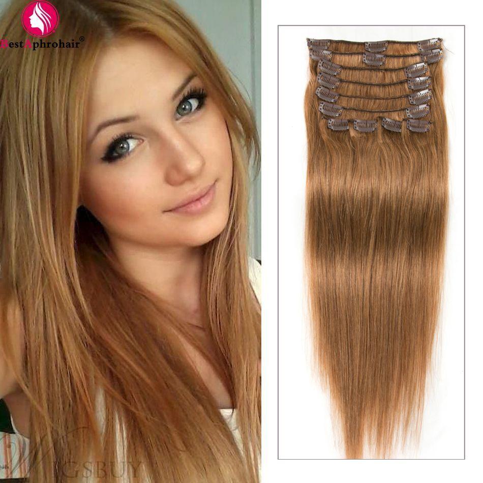 Bestaphrohair best clip in human hair extensions for thin hair pcs