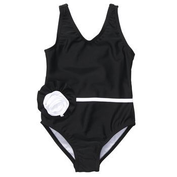 7c5fc5de641b0 1-Piece Rosette Swimsuit - someone PLEASE buy this gorgeous bathing suit  for their little girl! Modest