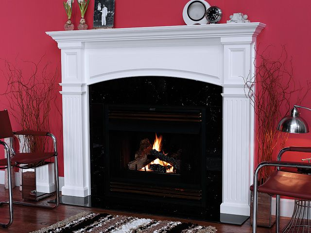 Monarch 58 In X 39 In Wood Fireplace Mantel Surround Wood